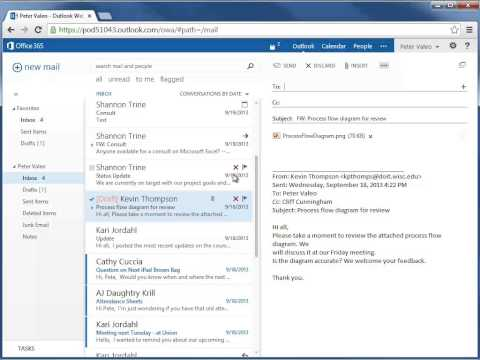Forwarding a Message - Office 365 Outlook Web App - Email