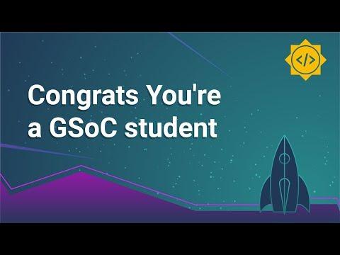 Congrats! You're a Google Summer of Code Student
