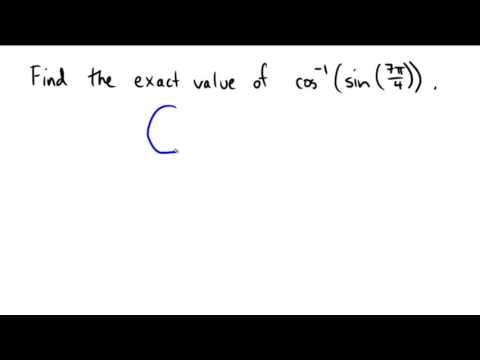 Finding inverse trigonomteric values of a trigonometric expression