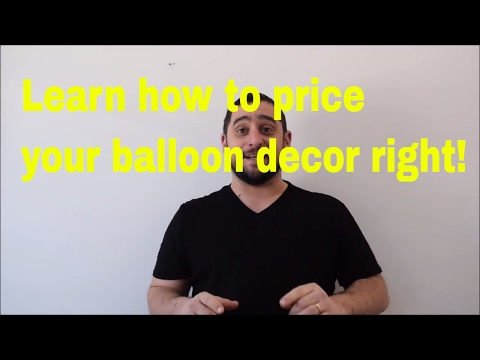 How to price your balloon decor  Simple formula on what to charge for balloon centerpieces and decor