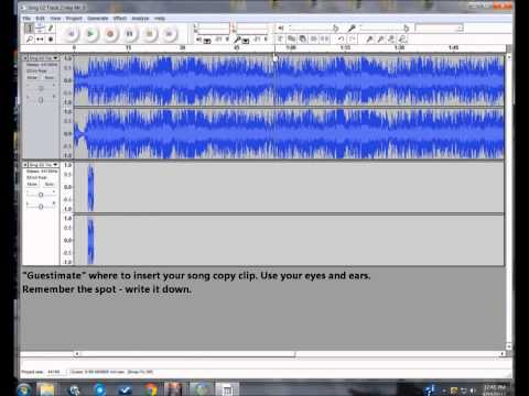 Pt 4:4 Using the Audacity program to alter mp3 and CD songs: For beginners.