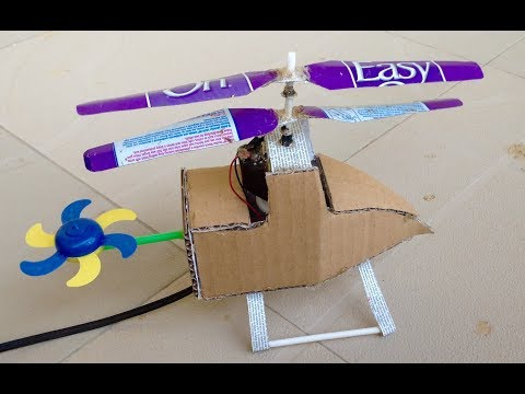 Wow! Final Step In Making A Double Rotor Helicopter At Home.