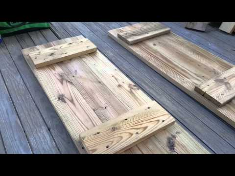 How to make window shutters with old wood planks