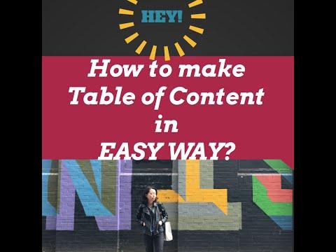 簡單思考Page目錄生成/How to make contents in Easy Way?(Page)