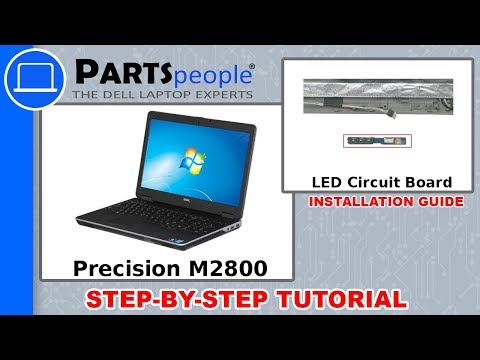 Dell Precision M2800 (P29F001) LED Circuit Board How-To Video Tutorials