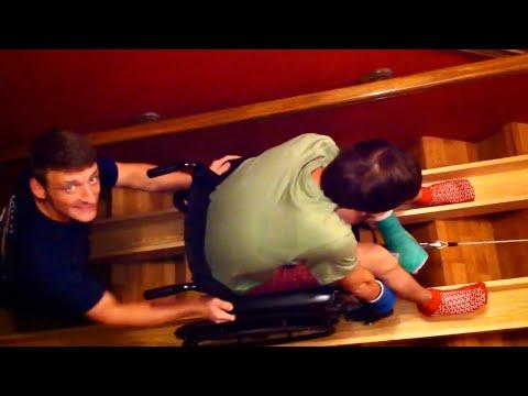 Red Neck Wheel Chair Ramp (Korey Hanks going upstairs)