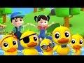 cinco pequeño patos | Canción infantil para niños | Five Little Ducks | Spanish Childrens Songs