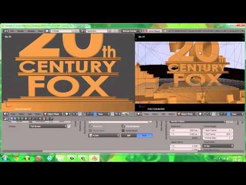 Make your own 20th Century Fox Logo using Blender