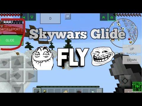 Mcpe Hacking in Skywars glide Fly (Lbsg)