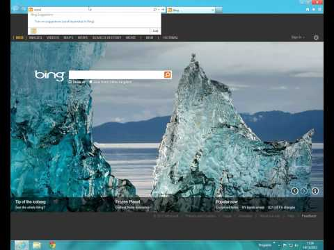 Windows 8 - How to change Internet Explorer homepage