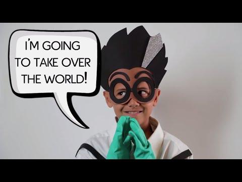 PJ Masks | Creations - DIY Halloween Costume for PJ Masks Villain ROMEO | Cartoons for Children #10