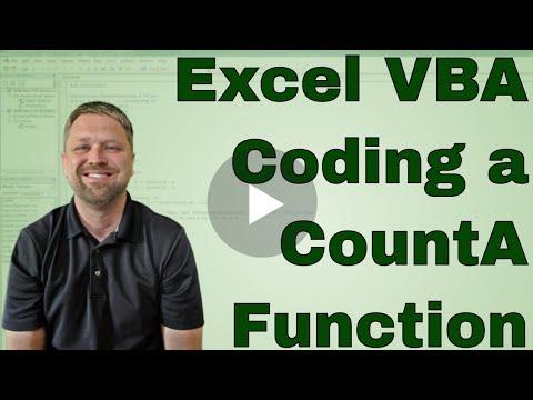 #4 VBA   Excel CountA Function in VBA code