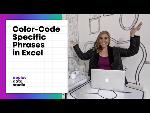 How to Automatically Color-Code Specific Words or Phrases in Excel