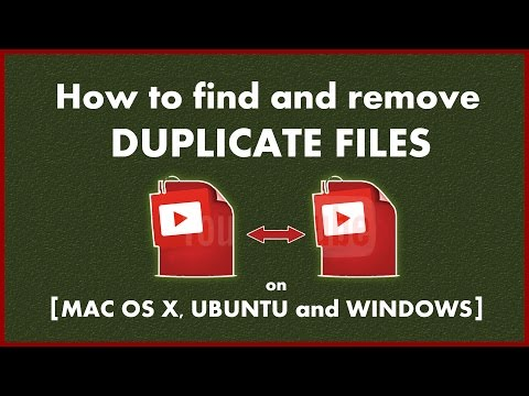 FREE Duplicate file remover on Windows, Mac OS X and Ubuntu