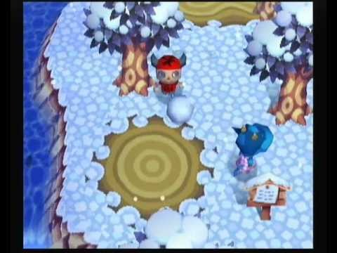 Animal Crossing - Making a Snowman