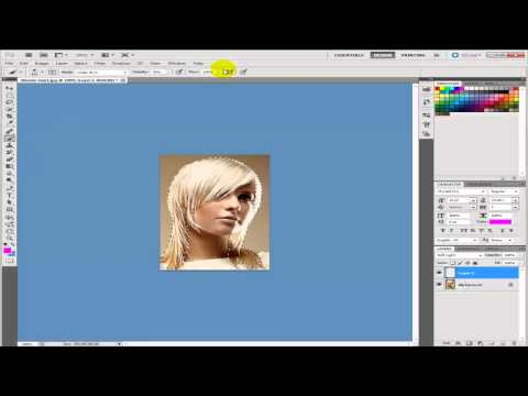 How To Change Hair Colour In Photoshop CS5 - PINK