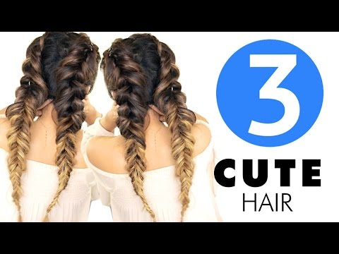 ★ 3 Easy HAIRSTYLES   Girls CUTE Back to School Hairstyle