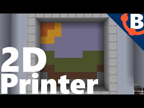 Colour Printer in Minecraft!! | Redstone 1.11.2