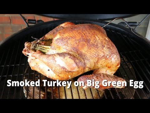 Smoked Turkey on Big Green Egg   How To Smoke A Turkey BGE with Malcom Reed HowToBBQRight