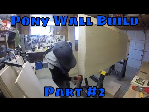 Pony Wall Build - Part 2 | Completion and Installation