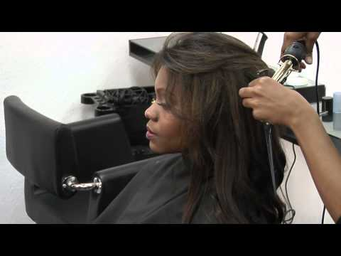 How to Curl a Yaky Weave : Styling & Curling Hair