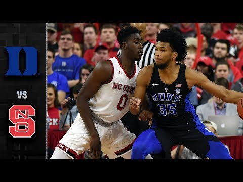 Duke vs. NC State Basketball Highlights (2017-18)