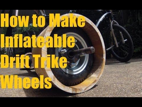 how to make inflatable drift trike wheels