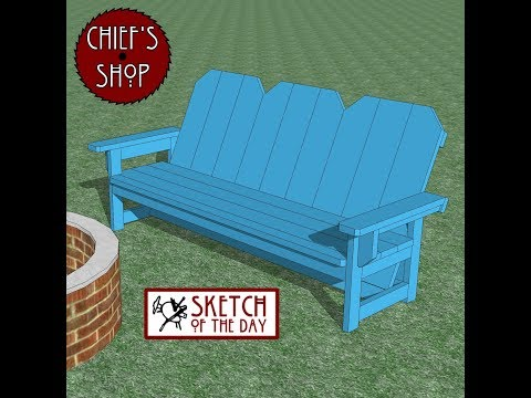 Chief's Shop Sketch of the Day: Firepit Bench