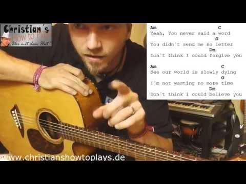 ★Lilly Wood & The Prick and Robin Schulz - PRAYER IN C | Akustik Gitarren Tutorial+Tabs★