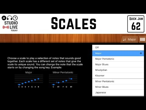 How to use scales in GarageBand iOS (iPhone/iPad)