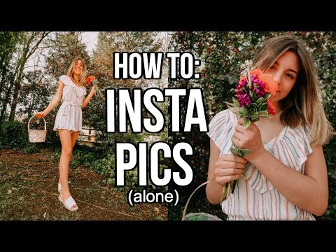 How to Take + Edit Instagram Pictures Alone! | Sophia Pruett