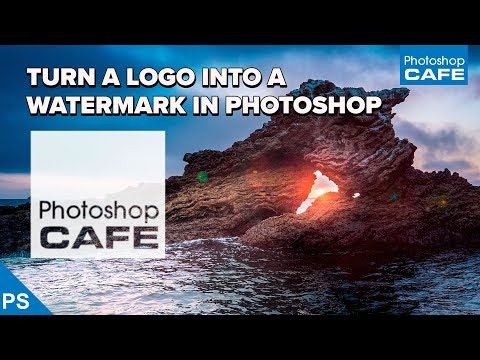 Convert LOGO to WATERMARK in Photoshop 2 STEPS. INSTANTLY Watermark your photos