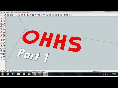 Sketchup Tutorial (2D to 3D Letters) Part 1