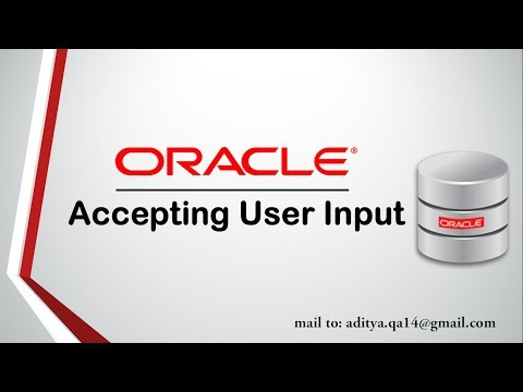 PL/SQL Tutorial | Accepting User input |Prompt input in Oracle Database
