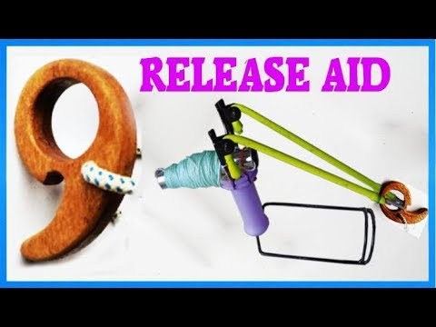 How to Make Lucky Archery Release aid - Simple Trigger to The Bow - Wooden Archers Release! 68