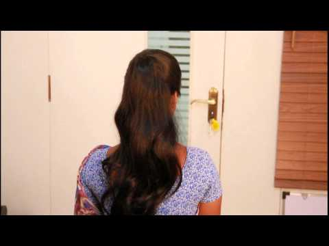 ponytail- hair extensions India- clip in hair extensions- Bridal make up