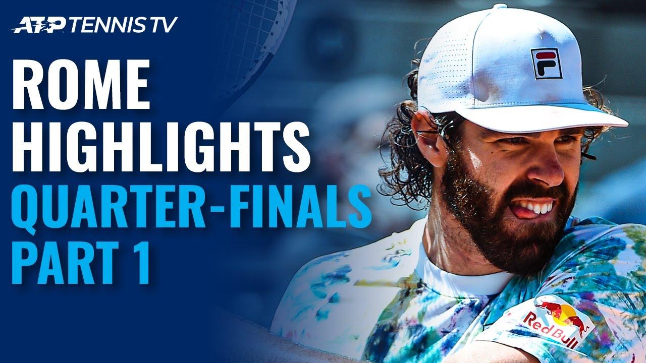 Nadal Renews Zverev Rivalry; Opelka Takes On Delbonis | Rome 2021 Quarter-Final Highlights Part 1