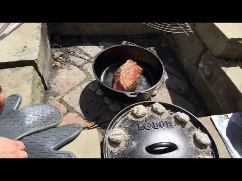 🔴  Yankee Pot Roast in Dutch Oven and a few beers