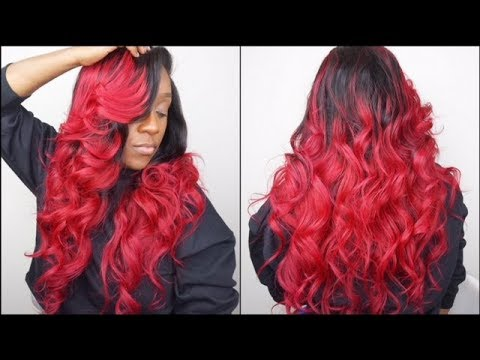 HOW TO DO EASY FLAT IRON CURLS | SEXY BOMBSHELL CURLS ON WEAVE | FT ALI PEARL HAIR