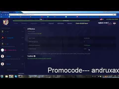 WTF-SKINS Promocode --- andruxax