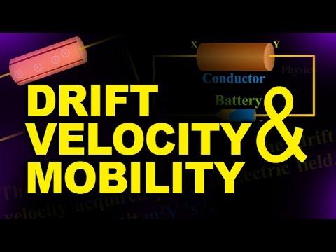 Drift Velocity and Mobility - Physics Animation