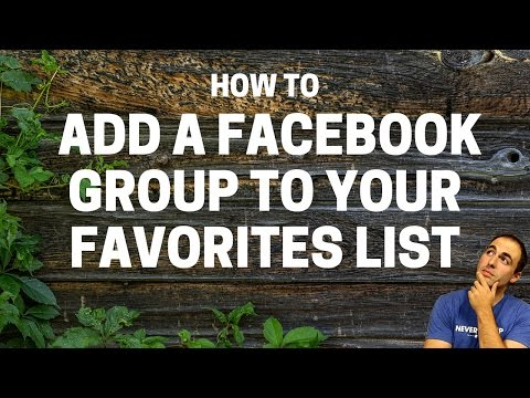 How To Add A Facebook Group To Your Favorites List