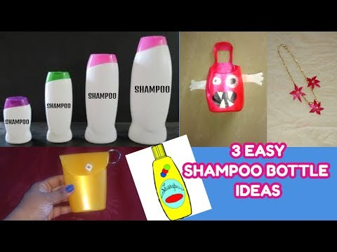 3 easy shampoo bottle craft ideas-best out of waste