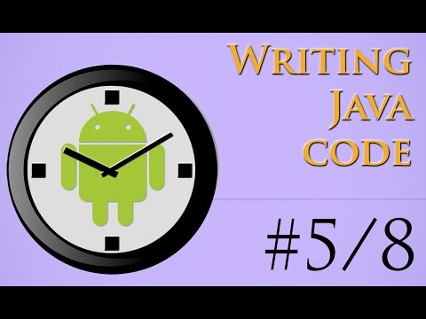 5/8 - How to write Java code inside MainActivity.java - Android App in 26 Minutes