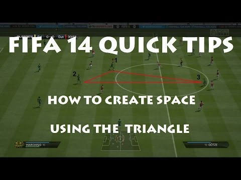 FIFA 14 | How To Create Space Easily (The Triangle) - Quick Tip #8