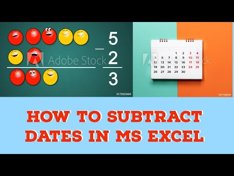 How to subtract dates in MS Excel