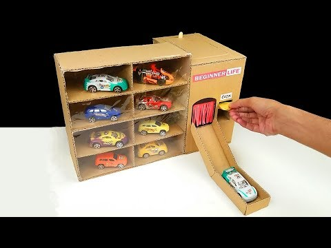 How to Make Amazing Car Vending Machine from Cardboard - Toy cars
