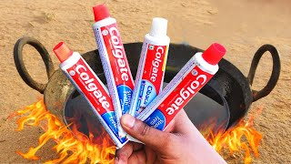 colgate toothpaste vs Hot oil Experiment