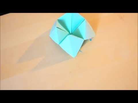 How to make a paper fortune teller [origami]