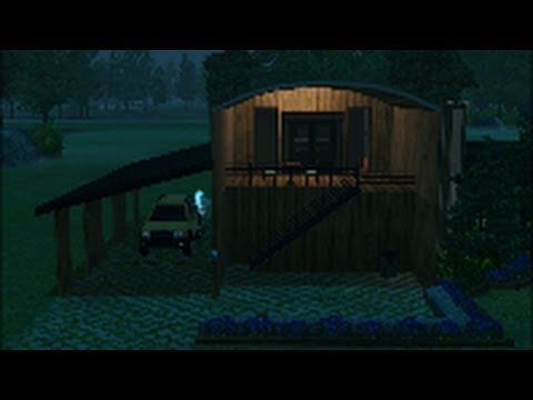 Sims 3 - Building The Rounded Roof House - How To Build A House Tips